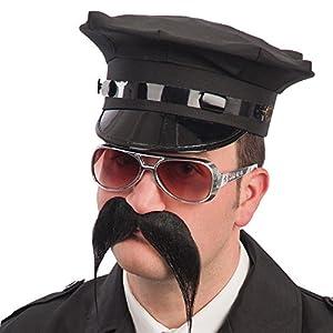 Carnival Toys - Sombrero lujo policía de tejido, color negro (6158)