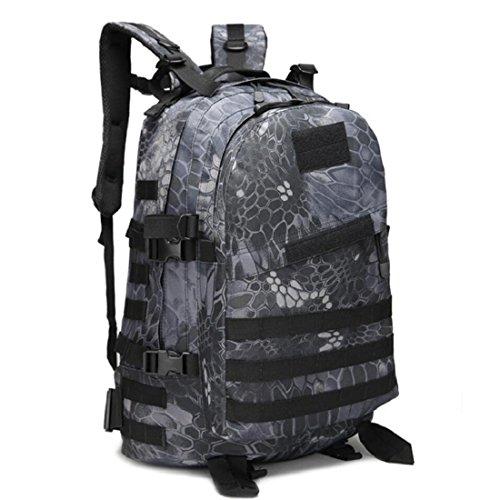 LF&F Backpack Camping outdoor Zaini Borse Migliorato l'alpinismo 3D al di fuori del campo da corsa di campeggio comoda respirabile resistente agli usura resistente alla rottura grande capacità multi-c D