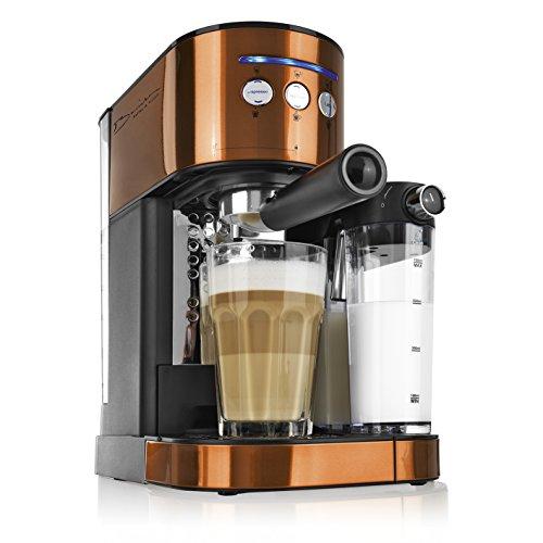 Version 2017 Barista Espresso-Maschine 1470W (Mit Milchaufschäum-funktion, Für Espresso, Latte...