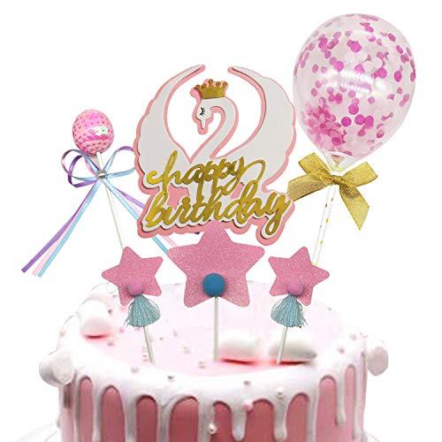 Allazone Topper Tarta Cumpleaños Decoración de Pasteles, 1 Pz Topper de Pastel...