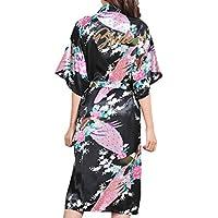 Juleya Bata de Novia Floral Bata de Novia Sólida Bata de Mujer Kimono Vestido de Camisón