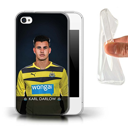 Offiziell Newcastle United FC Hülle / Gel TPU Case für Apple iPhone 4/4S / Pack 25pcs Muster / NUFC Fussballspieler 15/16 Kollektion Darlow