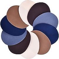5 colori 10 pezzi patch su ferro 5 per 3.9 pollici denim ferro toppe da stiro kit di riparazione 5 Colori diversi: Patch ricamati in ferro denim là sono marrone, blu scuro, kaki, grigio, beige, 5 colori, 2 pezzi di ogni colore, queste patch d...