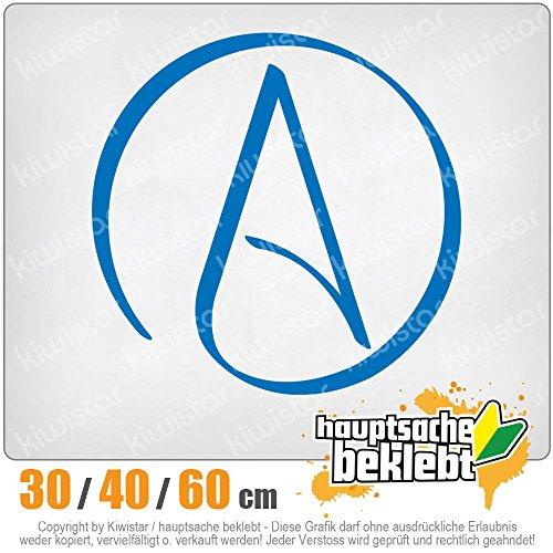 Kiwistar Atheismus - Atheist Heckscheibe in 15 FARBEN Aufkleber Sticker