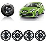 #7: Auto Pearl-Premium Quality Car Full Black Wheel Cover Caps Black 14 inches Press Type Fitting For - Honda Brio