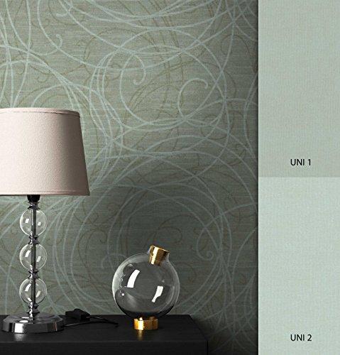 NEWROOM Tapete Grün geschlängelt Linien Vliestapete Vlies moderne Design Optik Mustertapete inkl. Tapezier Ratgeber
