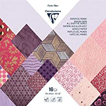 Clairefontaine Handmade Papers, 30 x 30 cm, 16 Sheets - Pinks/Purples