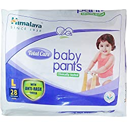 Himalaya Total Care Baby Pants - Large, 28 Pieces Pack
