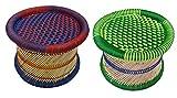 #9: Pushkar Handicraft Cane Bar Stool For Indoor/Outdoor Furnishings - 2 PC(Multicolor)