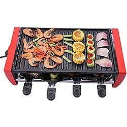 Grill elettrico Doppio strato Teglia da forno elettrico Gas di ferro piastra BBQ Grill Macchina di barbecue Potenza 1800W , electric heating barbecue stove