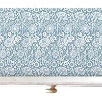 Recubrimientos de cajones color azul celeste con fragancia de rosa en diseño de William Morris