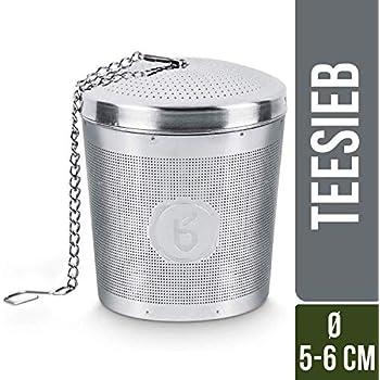 10,4cm x 4,6cm x 6,5cm 1x Edelstahl Teesieb Edelstahlsieb Teenetz Teefilter ca