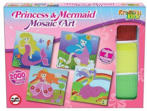 Kreative Kids Princess and Mermaid Mosaic Art Kit - Children's Arts & Crafts