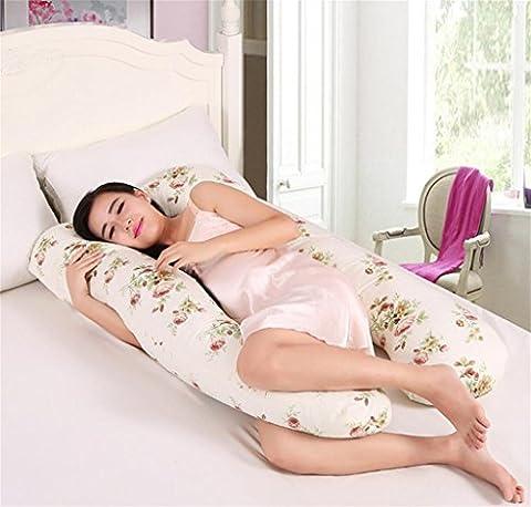 XXFFH® Pregnant women belly contoured body cotton pillow u shape baby breast feeding cushion U shape maternity pillow ,