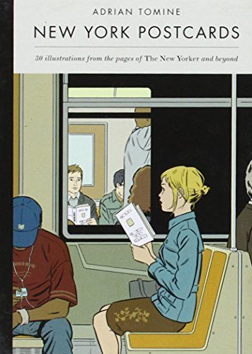 Portada del libro New York Postcards: 30 Illustrations from the Pages of The New Yorker and Beyond by Tomine, Adrian (2014) Paperback