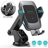 Heiyo Cargador Inalámbrico Coche, Qi Cargador Rápido Wireless Car Charger Soporte...
