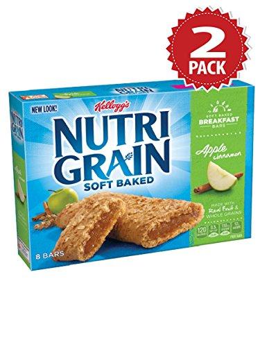 Nutri-grain Cereal Bars (Kellogg's Nutri-Grain Apple Cinnamon Cereal Bars - 2er Pack (2x295g))