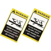 Sharplace 2pcs Etiquetas Engomadas Advertencia Gráficos Vinilo Kayak Duradero Impermeable Barco