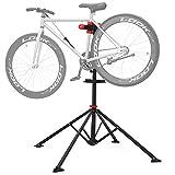 SONGMICS Fahrradmontageständer Reparaturständer mit Werkzeugablage, klappbar & Höhenverstellbar, 360° drehbare Fahrradklemme, Leichtgewichtig Tragbar SBR02B