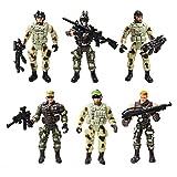 YIJIAOYUN 6 Stück groß Actionfigur Armee Soldaten Spielzeug mit Waffen / Militärfiguren Spielsets