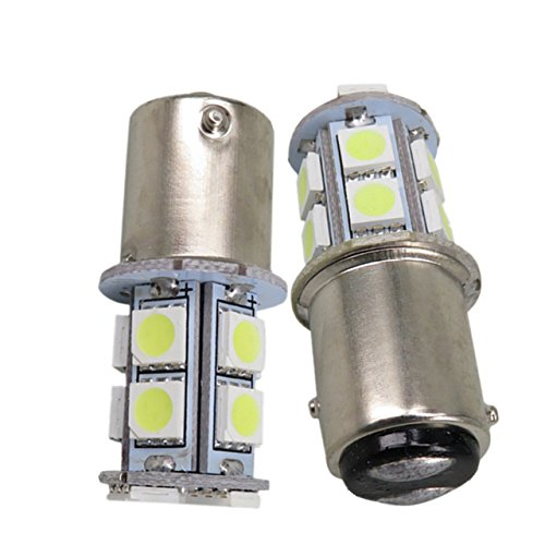 TMT LEDS(TM) 2 X BOMBILLAS LED BAY15D 1157 P21/5W 13 LEDS SMD 5050 12V BLANCO POSICION FRENOS COCHES MOTOS