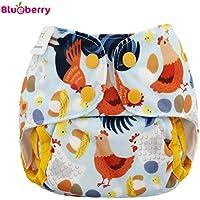 Blueberry Capri 2.0 Überhose - Chickadee Größe Newborn (2,7-7,5 kg) / Druckies