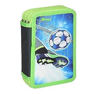 Spirit Estuche Escolar Fußball Goal, 3 Cremallera