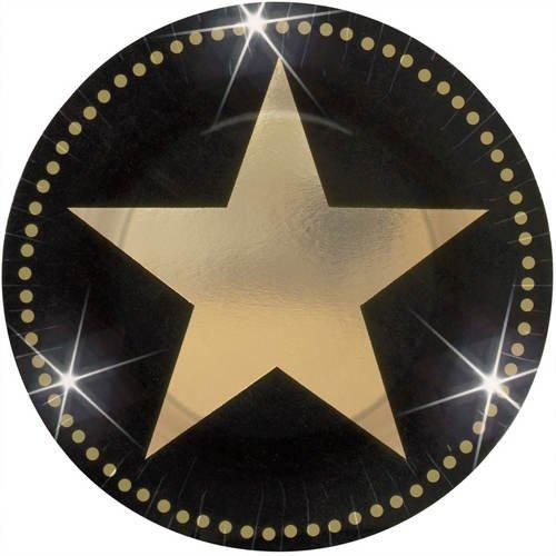 Preisvergleich Produktbild PARTY DISCOUNT Teller Hollywood Star Attraction Ø 18 cm,  8 Stück