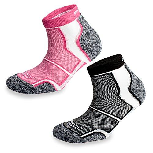 Coolmax Sports More Mile New York Laufsocken, gepolstert, 2 Paar Gr. 35-38, schwarz / pink Nike Womens Thermal