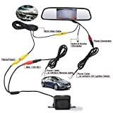 ROGUCI Dax 4.3 Zoll Farbe Rückfahrkamera LCD Nachtsichtgerät Kamera Webcam Auto Rückfahrkamera Kamera + 4.3' Innenspiegel /Rückspiegel TFT LCD Monitor Fernbedienung & Standfuß Für Auto Rückfahrkamera monitor