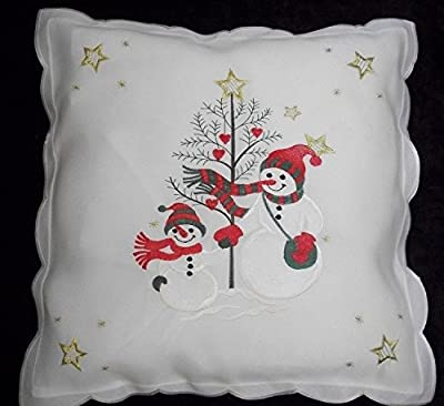 Christmas Novelty Snowman and Friend Cushion Covers