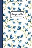 Une ligne par jour | 5 ans de souvenirs: Journal de souvenirs daté, motif fleuri bleu