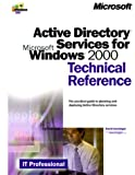 Telecharger Livres Active Directory Services for Microsoft Windows 2000 Technical Reference (PDF,EPUB,MOBI) gratuits en Francaise