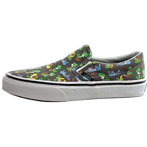 Vans Classic Slip-On Sneaker, Unisex Bambini Grau ((Nintendo) Yoshi/Pewter)