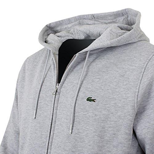 Lacoste Sport Classic Hooded Zipper Silber