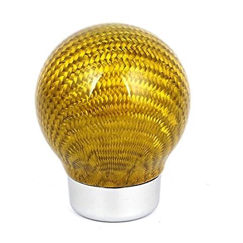 Gelb Real Carbon Fiber Kugel Schaltknauf