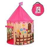 Georgie Porgy Kinder Faltbares Spielhaus Portable Zelt Schloss Indoor Outdoor Spielzeug Garten (Rosa...