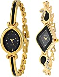 #10: Xforia Girls Watches Black Color Dial Watch for Women Latest Pack of 2 (RG-FLX-50)