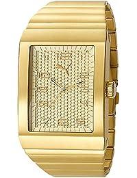 Puma Time - Reloj analógico para caballero de acero inoxidable beige
