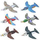 Henbrandt Ltd The Harlequin Brand 12x polystyrène aviateur Nouvelle Oiseaux Avions Animaux Patins 16cm Anniversaire Petit Cadeau HB