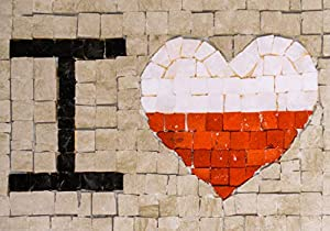 Trois petits points Kit de Mosaico Completo de Tres Puntos, Modelo Love Poland-Maxi, 6192459601106, Universal