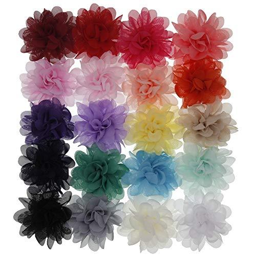 Armband für Männer und Frauen Simple Style Haargummis Chiffon Blumenzubehör Weiche Schöne Haarband Kopfbedeckung Anzieh Stirnband Blumen Haar für Kinder Baby Mädchen 20st Vielseitige Dekoration -