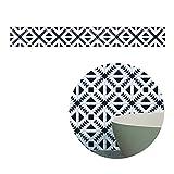 Topker 5M schwarze weiße Retro Fliese Fliesen Aufkleber Film PVC Badezimmer Toilette wasserdichte Wandaufkleber