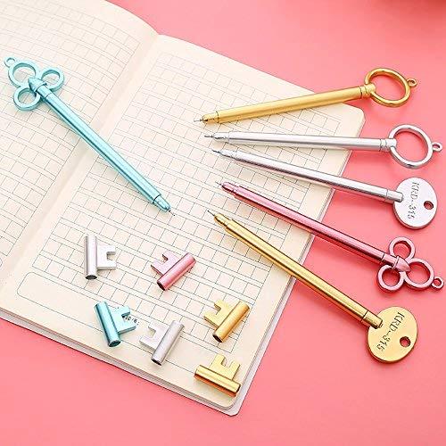 Lvcky 12 Stück Neuheit Schlüssel Stifte Set Feine Spitze Kugelschreiber Schwarz Tinte Gel Pen Büro Schule Zubehör Spielzeug Geschenk -