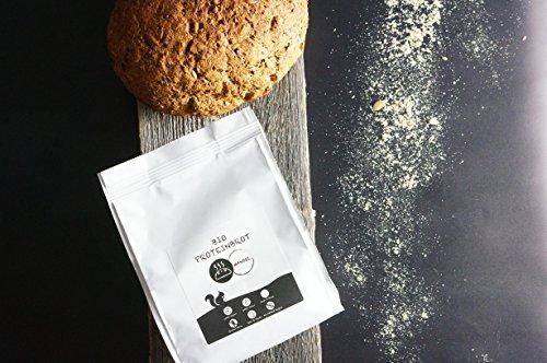 PALEO Brot-Backmischung: Kastanie & Mandel | Bio | Vegan | Getreidefrei, Gluten-frei | Eiweissbrot - 20% Protein | ohne Zuckerzusatz | Hergestellt in DE | Paleo To Go | Ergibt 4 Brote (1.8 kg) - 4