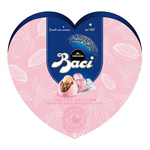 Baci perugina limited edition cioccolatini con fave di cacao ruby naturali e nocciola intera scatola cuore - 100 g