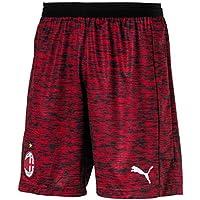 Puma AC Milan Shorts Réplica Without Inner Slip, Pants Hombre, Hombre, 754442, Tango Red Heather White, Medium