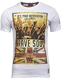 Mens Brave Soul Spirit Union Jack Print Graphic Short Sleeve T Shirt Size S - XL