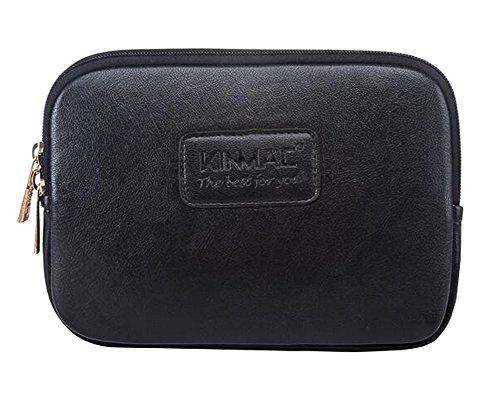 Black PU Housse en cuir de téléphone Purse Pouch Coin