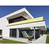 Balkon Sichtschutz Gelb Weiß 500x90 Balkonsichtschutz Balkonumrandung Balkonverkleidung Windschutz